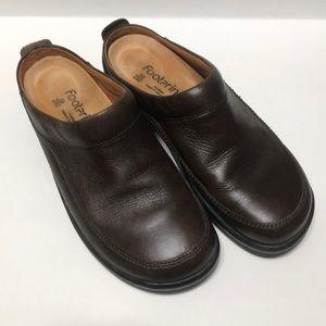 Footprints by Birkenstock's clogs